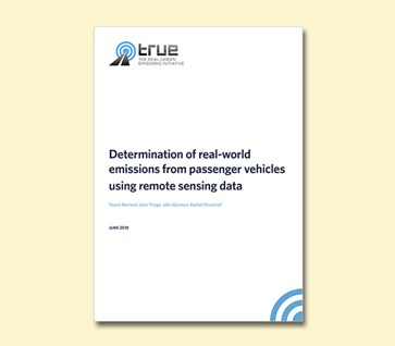 Determination of real-world emissions from passenger vehicles using remote sensing data