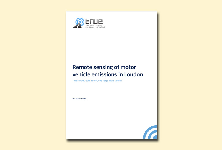Remote sensing of motor vehicle emissions in London