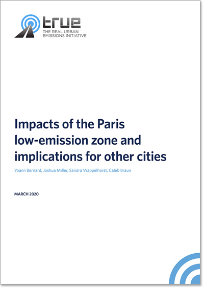 Impacts of the Paris low-emission zone and implications for other cities