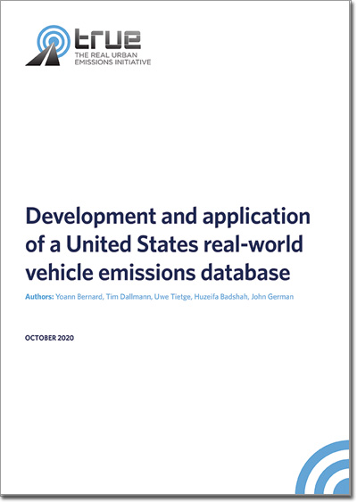 Development and application of a US real-world vehicle emissions database